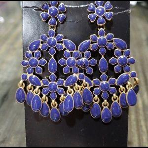 J. Crew Jewelry - 🌼Blue Golden Earring🌼 Blue earring on sale.